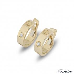 Cartier Yellow Gold Love Hoop Earrings B8022900